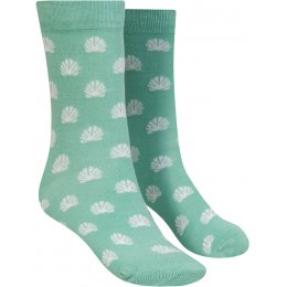 Mudd & Water Shell Print Organic Cotton & Bamboo Socks