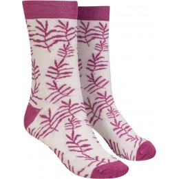 Mudd & Water Palm Print Organic Cotton & Bamboo Socks - White