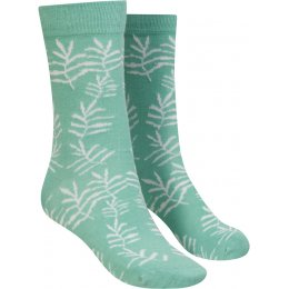 Mudd & Water Palm Print Organic Cotton & Bamboo Socks - Block Colour