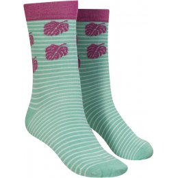Mudd & Water Stripe & Palm Print Organic Cotton & Bamboo Socks