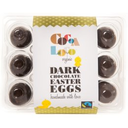 Cocoa Loco 73 percent  Dark Chocolate Mini Eggs - 140g