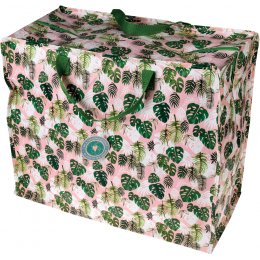 Recycled Jumbo Storage Bag - Tropical Palm
