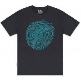 Silverstick Mens Love Trees T-Shirt - Charcoal & Blue