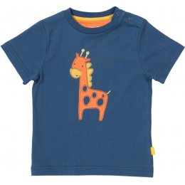Kite Organic Cotton Giraffe T-Shirt - Navy