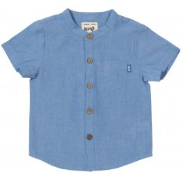Kite Organic Cotton Chambray Shirt - Blue