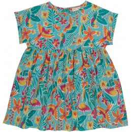 Kite Organic Cotton Rainforest Dress - Turquoise