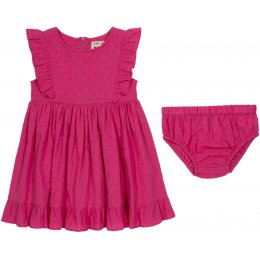 Kite Organic Cotton Frill Dress & Pants - Pink