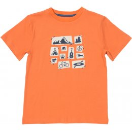 Kite Organic Cotton Camping T-Shirt - Melon