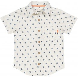 Kite Organic Cotton Sailboat Shirt - Ecru