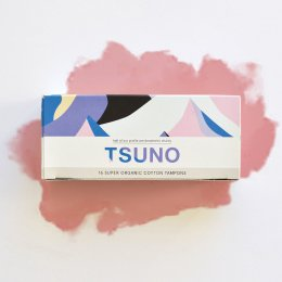 Tsuno Organic Cotton Tampons - Super - Pack of 16