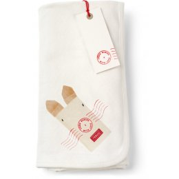 From Babies with Love Reversible Rabbit Swaddling Blanket
