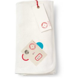 From Babies with Love Reversible Monkey Swaddling Blanket