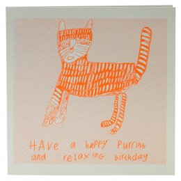 Arthouse Meath Charity Purring Birthday Card