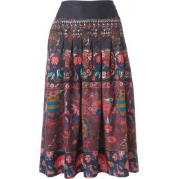 Thought Aubergine Tapestry Skirt