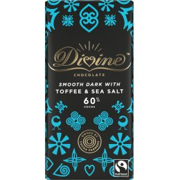 Divine 60 percent  Dark Chocolate with Toffee & Sea Salt