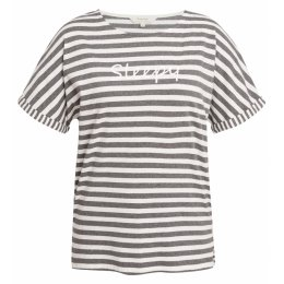 People Tree Organic Stripe Short Sleeve Pyjama Top