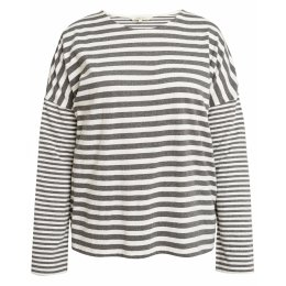People Tree Organic Stripe Long Sleeve Pyjama Top
