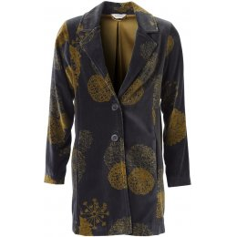 Nomads Velvet Bloom Coat - Granite
