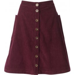 Nomads Button Front Skirt - Plum