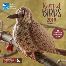 RSPB Knitted Birds 2019 Wall Calendar