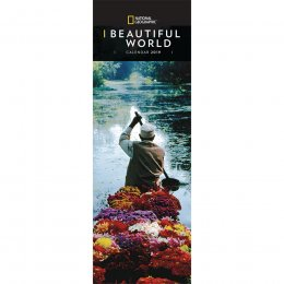 National Geographic Beautiful World 2019 Slim Calendar