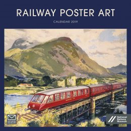 National Railway Museum Railway Poster Art 2019 Wiro Wall Calendar