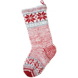 Christmas Stocking - Red & Grey