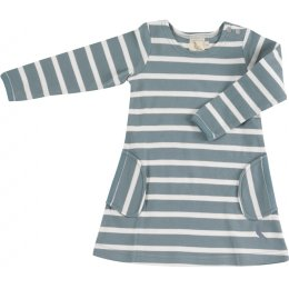 Pigeon Organics Breton Stripe Dress - Smoke Blue