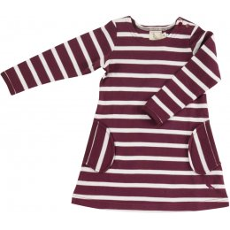 Pigeon Organics Breton Stripe Dress - Fig