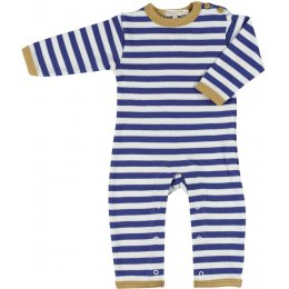 Pigeon Organics Nautical Stripe Romper - Navy