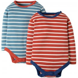 Frugi Billy Breton Stripe Baby Body - Pack of 2