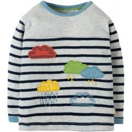 Frugi Playtime Panel Tee - Rainclouds