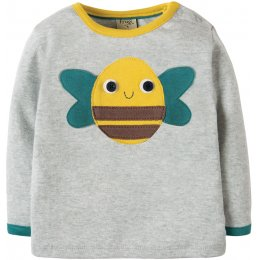 Frugi Button Off Applique Top - Farm