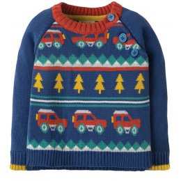 Frugi Little Finn Fairisle Jumper  - Truck