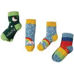 Frugi Rainbow Socks - Pack of 3