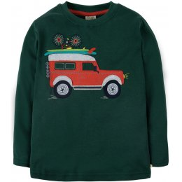 Frugi Touring Applique Top - Truck