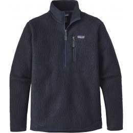 Patagonia Mens Retro Pile Pullover - Navy Blue