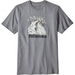 Patagonia Cornice Canvas Responsibili-Tee - Gravel Heather
