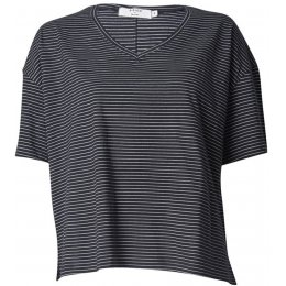 Bibico Organic Stripe Relaxed V-Neck Tee