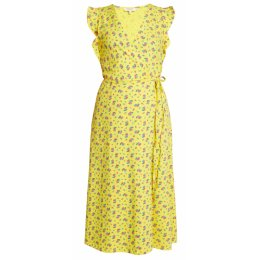 People Tree Yellow Magdelena Wrap Dress