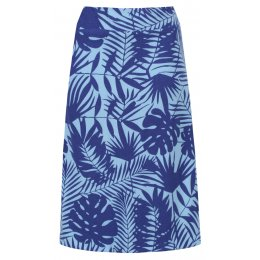 Mudd & Water Blue Palm Print Cara Skirt