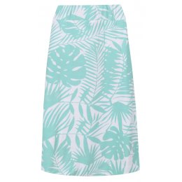 Mudd & Water Sea Green Palm Print Cara Skirt