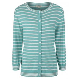 Mudd & Water Sea Green Stripe Eva Cardigan