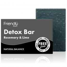 Friendly Soap With Activated Charcoal Detox Bar - 95g