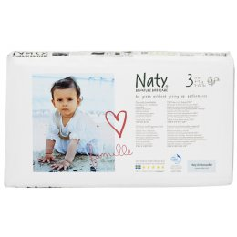 Naty by Nature Nappies Economy Pack - Midi Size 3 - Pack of 52