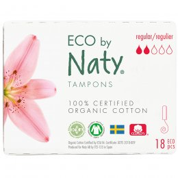 Eco by Naty Digital Tampons - Regular - 18 pcs