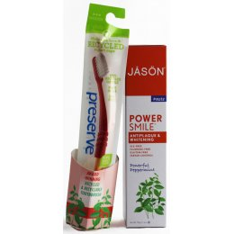 Jason Powersmile Toothpaste & Preserve Toothbrush Value Pack