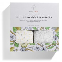 Storksak Garden & Raindot Swaddle Blankets - Pack of 2