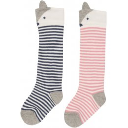 Kite Pink Fox Socks - Pack of 2