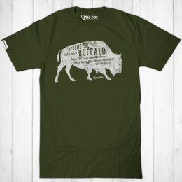 Mens Be the Buffalo Fair Wear Cotton T-Shirt